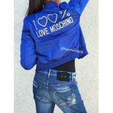 BOMBER BLUE LOVE MOSCHINO 100%